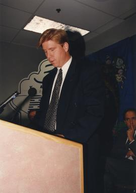 BCIT Alumni Entrance Award, October 19, 1994; Mr. Bill MacPherson, Vice President, BCIT Alumni As...