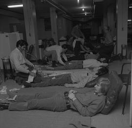 Industrial First Aid, Nanaimo; a classroom of students practicing first aid [2 of 3]