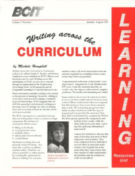BCIT Learning Resources Unit newsletter, vol.3, no.1, 01-1993