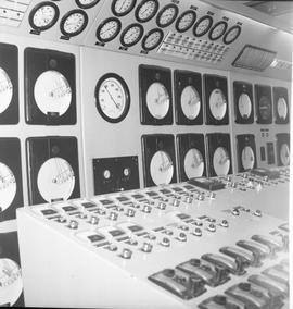 Forestry, Wood fiber BCIT tour, November 26, 1965; control room for forestry equipment