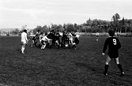 BCIT's Cougar Rugby sports team playing a game on the BCIT sports field. BCIT Recreation [6 of 11...