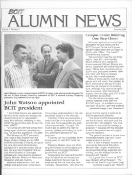 BCIT Alumni Association Newsletter 1989 Summer BCIT Alumni News
