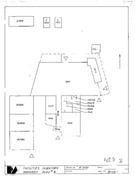 Facilities inventory Burnaby building 2 , NE03, floor plan, 1982 or 1983