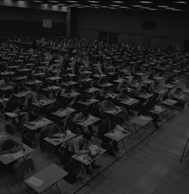 BCIT exams in gym, 1972 [2 of 2]