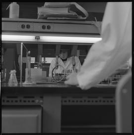 Medical laboratory technology, 1968; student working in a lab [3 of 3]