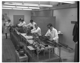 BCIT Programs Forest Products Utilization Technology - 1968 - men in lab coats with World's Small...
