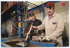 BCIT Welding Trades - Steel Trades 1992 - instructor Al Wood [6 of 9 photographs]