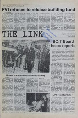 The Link Newspaper 1985-02-27