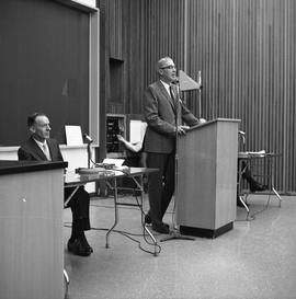 CVA Convention, 1969 ; man standing and talking at a podium