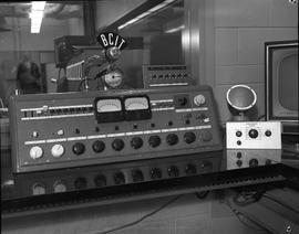 British Columbia Institute of Technology Broadcasting ; 1960s ; audio control board used in broad...