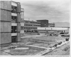 British Columbia Institute of Technology - early building construction - 1967 June - facing NNE