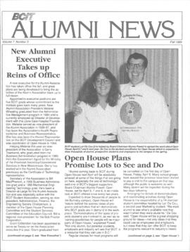 BCIT Alumni Association Newsletter 1989 Fall BCIT Alumni News