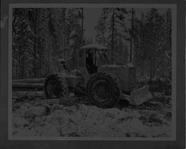 BCIT Forestry; picture of a skidder in a forest