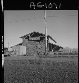 BC Vocational School image of a hay barn at Mile Zero Farm in Dawson Creek, BC [2 of 2 photographs]
