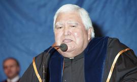 Robert (Bob) George receiving an Honorary Doctorate of Technology; Elder Advisor, BCIT [17 of 19 ...