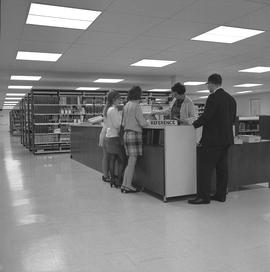 BCIT Library ; library and group of people at reference desk [2 of 2] [cont. in note]
