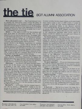 BCIT Alumni Association Newsletter 1973 The Tie