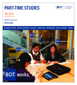 Part-time studies fall 2012
