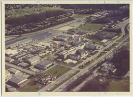 Aerial view of BCIT Burnaby campus 1987