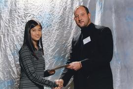 BCIT Alumni Association Entrance Award, Oct. 25, 2000; Jennifer Mak, presented by Scott Gray, Pre...
