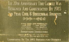 Time Capsule plaque (1985)