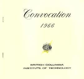 Convocation 1966 British Columbia Institute of Technology