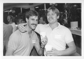 BCIT Alumni Association AGM 1988; two men posing for a photograph