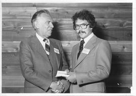 Alumni Awards, 1979, event photograph; recipient Scott Barney