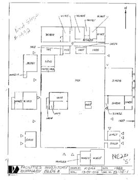 NE20, S, Facilities inventory Burnaby Bldg. no. 25, floor plan, 1982