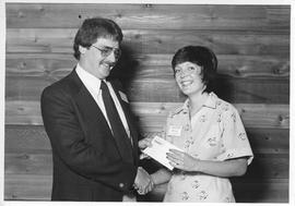 Alumni Awards, 1979, event photograph; recipient Debra Cull
