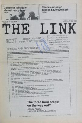 The Link Newspaper 1985-01-23