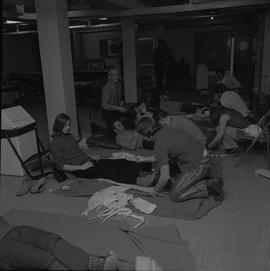Industrial First Aid, Nanaimo; a classroom of students practicing first aid [3 of 3]