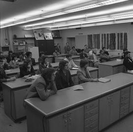 BCIT Programs Forestry Technology ; students sitting at desks in a classroom