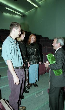 Venture students meet Tony Parsons, April 1995 [12 of 12 photographs]