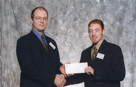BCIT Alumni Association Entrance Awards, Oct. 27, 1999; Michael Higgins, presented by Kazamir Fal...