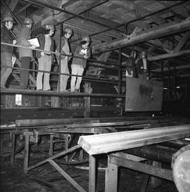 BCIT Programs Forest Products Technology ; group of people in a saw mill