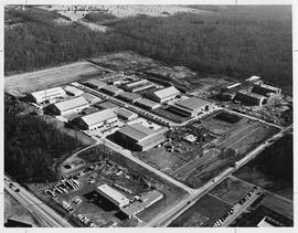 Aerial photograph of BCIT 1962 - BCIT's first building under construction (in top right of photog...