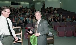 Venture students meet Tony Parsons, April 1995 [6 of 12 photographs]