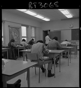 BCVS image of Basic Training Skills Development (BTSD) classroom with students working at desks a...