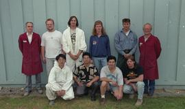 BCIT Women in Trades; plumbing, group photograph, September 1, 1994