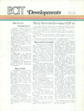 BCIT Developments, vol. 2, no. 4, 1973-04