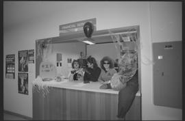Two cat costumes and one Star Trek costume, Financial Services staff during Halloween [3 of 5 pho...