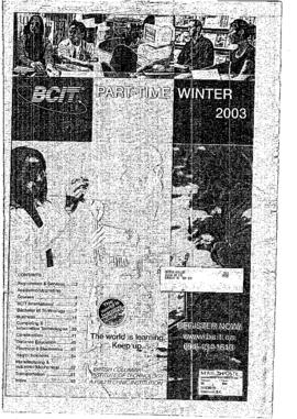 Part-time calendar 2003 winter