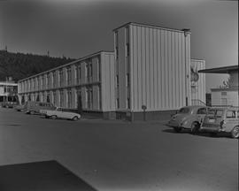 Nanaimo campus, 1967; building on campus