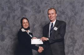 BCIT Alumni Association Award, October 28, 1998; Andrea Palmer, presented by Peter Broerken, Trea...