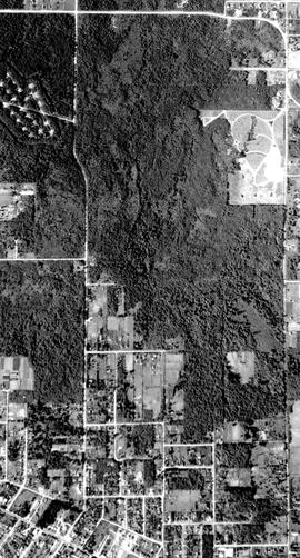Aerial photograph of BCIT Burnaby Campus 1948 (cropped by BCIT Archivist, 2012-11-13)