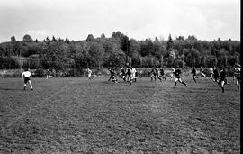 BCIT's Cougar Rugby sports team playing a game on the BCIT sports field. BCIT Recreation [3 of 11...