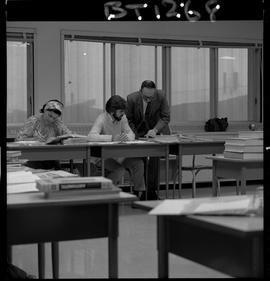 B.C. Vocational School image of a BTSD Basic Training program instructor teaching students in a c...
