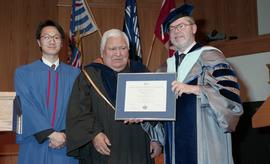 Robert (Bob) George receiving an Honorary Doctorate of Technology; Elder Advisor, BCIT [6 of 19 p...