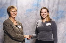 BCIT Alumni Association Entrance Awards, Nov. 7, 2001; Ashley Nutland, presented by Brenda Dumont...